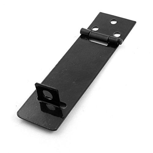 Tono plateado Metal de pestillo de puerta con pasador para puerta arma