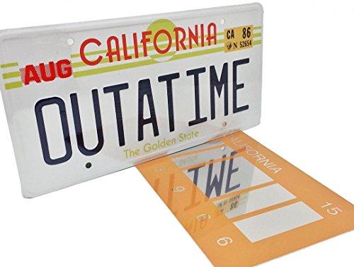 (OUTATIME Zurück in die Zukunft 1 Prop Nummernschild und zurück in die Zukunft 2 Mirrored 2015 Barcode Nummernschild, wie auf Marty McFly und Doc Browns DMC-12 Delorean gesehen (Tracked Versand enthalten))