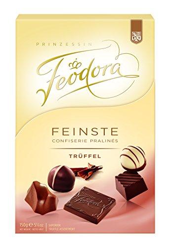 Feodora Feinste Confiserie Pralinés Trüffel, 1er Pack (1 x 150 - Geschenk Gourmet Edelbitter-schokolade