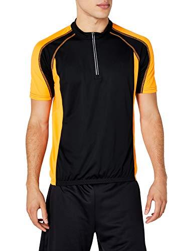 James & Nicholson Herren Kurzarm Bike T-shirt schwarz (black/orange) Small