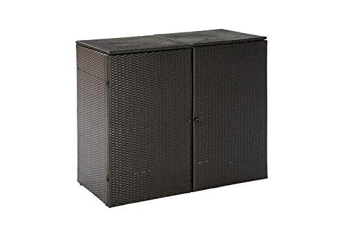 Mülltonnenabdeckung 2er Mülltonnenbox Abfalltonnenbox - 3