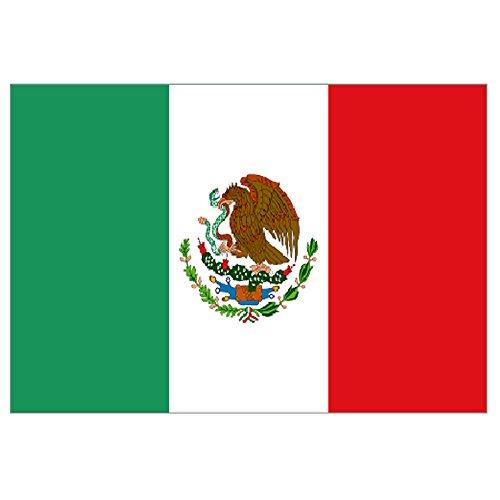 Supportershop-Drapeau Mexique polyester avec 2 œillets metalliques - 150 x 90 cm Supportershop