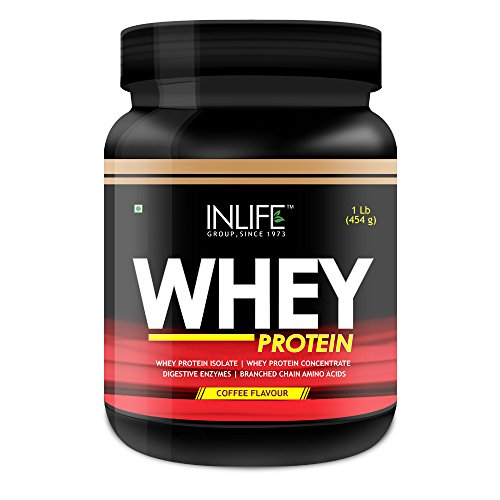 INLIFE Whey Protein Powder - 1 lbs (Coffee Flavour)  available at amazon for Rs.1264