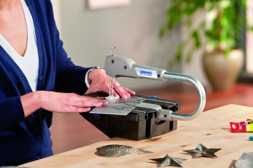 The Dremel Moto-Saw MS20-1/5 2-in-1 Compact Scroll Saw is an easy-to-use and compact tool for making intricate cuts in different materials.
