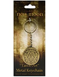 Twilight New Moon Metal Tattoo Art Keychain