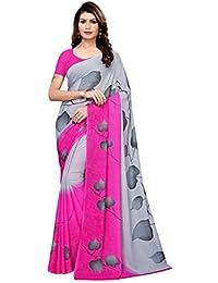 GoSriKi Georgette with blouse piece Saree (Aakruti-510_ Pink_ Free Size)