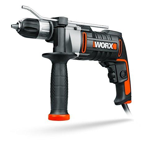 WORX WX318 Schlagbohrmaschine 810W mit robustem Metall-Getriebegehäuse, stufenloser Drehzahlregulierung, Tiefenanschlag, werkzeuglosem Bohrfutter uvm. | Exaktes Bohren in Holz, Beton & Stahl