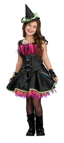 Disfraz de Bruja Rockera con corset para niña, infantil 8-10 años (Rubie's 883961-L)