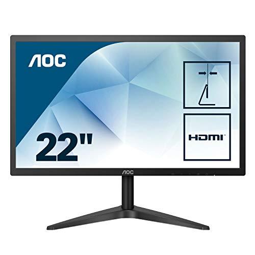 AOC 22B1HS 54,7 cm (22 Zoll) Monitor (VGA, HDMI, TN Panel, 1920 x 1080, 60 Hz) schwarz