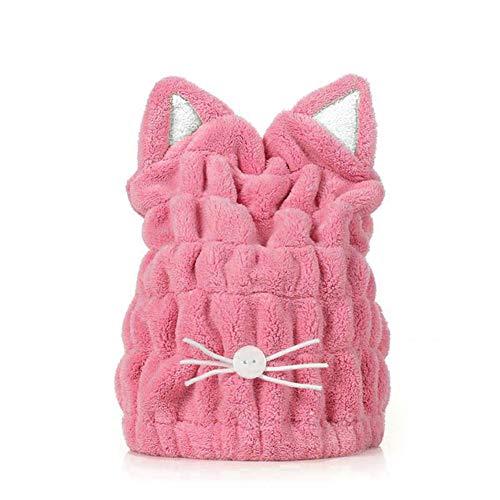 Haar-trocknende Kappe Nette Karikatur-Katze mit super weichem absorbierendem trockenem Hut-Haar-Verpackungs-Tuch
