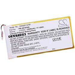 vhbw Li-Polymère Batterie 4500mAh (3.8V) pour téléphone Portable Mobil Smartphone Acer Iconia A6001, One 8 B1-850