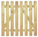 StaketenTür 'Premium' 100x100/100 cm - gerade – kdi / V2A Edelstahl Schrauben verschraubt - aus getrocknetem Holz glatt gehobelt – gerade Ausführung - kesseldruckimprägniert