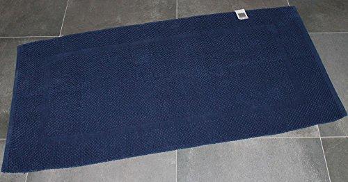 Tappeto arredo bagno zucchi solotuo tinta unita col.1307 blu notte cm 60 x 100 lavorato a mano 100% puro cotone da 1550gr/mq