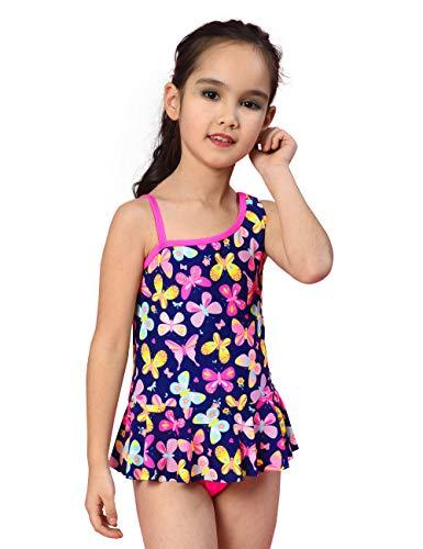 iliger Badeanzug,Ruffle Butterfly Bademode,Sommer Strand Badeanzug für Kleinkinder, Schmetterling, 5Jahre ()