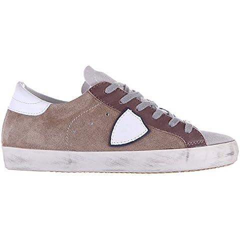 Philippe Model zapatos zapatillas de deporte hombres en ante nuevo mixage gris