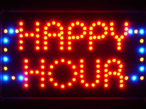 LAMPE NEON ENSEIGNE LUMINEUSE LED led036-r Happy Hour Bar Beer LED Neon Light Sign