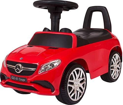 Mercedes Rutschauto Benz GLE63 Coupe Rutscher Kinderauto Rutschfahrzeug Lauflernwagen Laufwagen (rot)