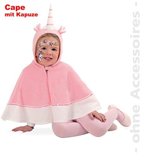 Einhorn Cape mit Kapuze Polar Fleece Baby Kleinkind Kinder - Kostüm Babykostüm Kinderkostüm Gr 104 Fasching