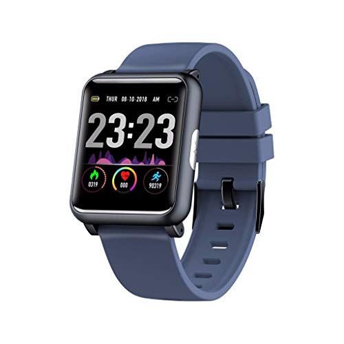 LRWEY Fitness Smart Watch, H9 1,3 Zoll Wasserdichte Herzfrequenz-EKG-Blutdruckerkennung Sport Smartwatch, FüR iOS Android