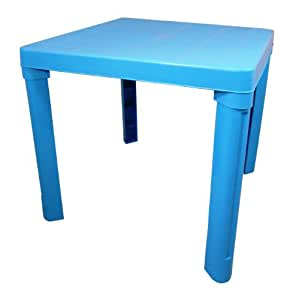 table de jardin en plastique pour enfant bleu. Black Bedroom Furniture Sets. Home Design Ideas