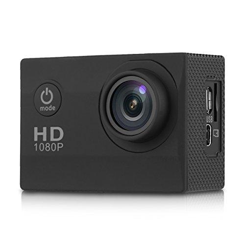 "1012 - Mini DV Cámara Deportiva 1.5"" de Acción Impermeable (1080P 30FPS, 12MP HD, H.264, TF 32G, 170 ° Gran Angular, USB2.0, HDMI) (Negro)"
