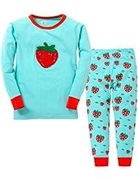 580513e6cb YuanDian Jungen Mädchen Weihnachten Cartoon Drucken Pyjama 2 Stück Kinder  Nachtwäsche Langarm Tops Shirts & Hose