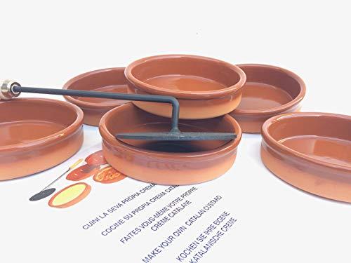 Ikocat® Crème Brulée, 6 Cassolette und Brenner für katalane Cremes -