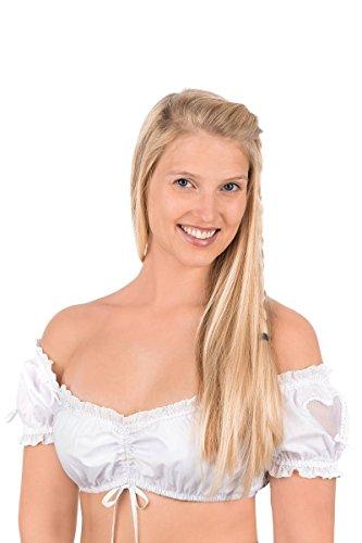 Krüger Damen Dirndlbluse Weiß Holly 132030, Größe 36 - Traditionelle Holly