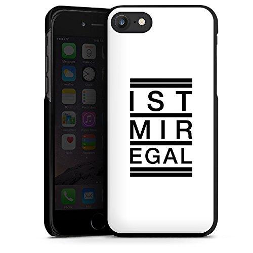 Apple iPhone X Silikon Hülle Case Schutzhülle Egal Trend Statement Hard Case schwarz