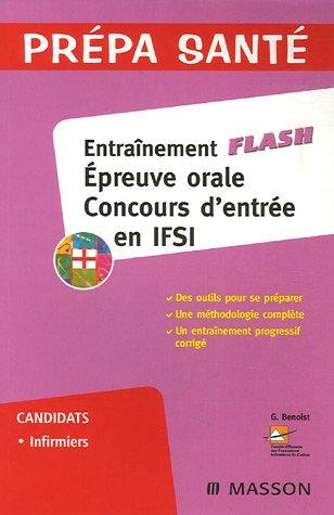 Entraînement Flash : Epreuve orale concours d'entrée en IFSI
