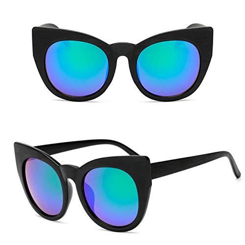 WET0VSD Sonnenbrille Frauen Vintage Big Frame Übergroße Männer Shades Retro Brille Frauen Eyewear Cat Eye Schutzbrille