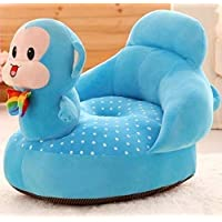 PWI Baby Soft Plush Cushion Baby Sofa Seat or Rocking Chair for Kids (0 to 2 Years) Blue Monkey)-Monkey