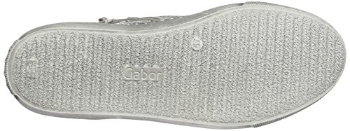 Gabor Sneaker Alte Donna Multicolore (Mehrfarbig (61 silber/weiss))