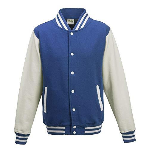 Just Hoods - Unisex College Jacke 'Varsity Jacket' BITTE DIE JH043 BESTELLEN! Gr. - XL - Royal Blue/White