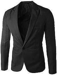 Amlaiworld Uomo Moda Casual Slim Fit Un Pulsante Tuta Giacca Blazer Cappotto 895ff75cd484