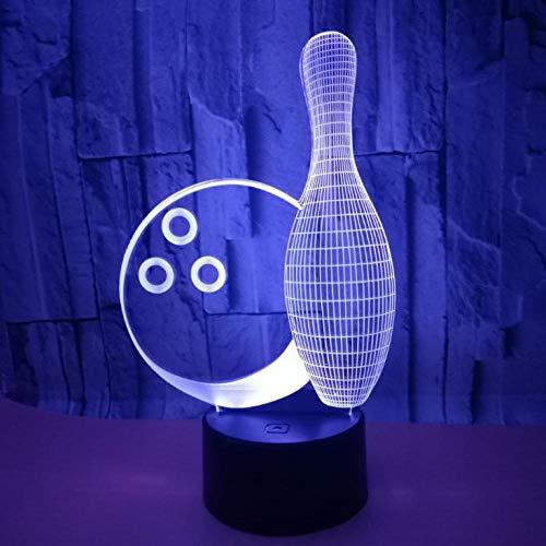 Kids Night Light Plug In Usb Control Remote Geschenk Nachtlicht, Bowling, Illusion Led Nachtlicht Tischlampe, Baby Bestes Geschenkspielzeug Für Festival Geschenk Nachtlicht