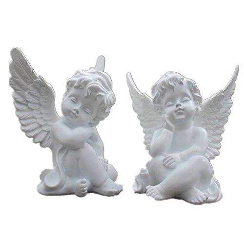 80x60x100mm Wohnkultur Vintage Engel Cherub Figurine Weiß Schlafen Baby Engel Statue -