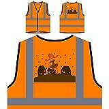Festa Junina Neues Festgeschenk Personalisierte High Visibility Orange Sicherheitsjacke Weste e938vo