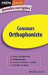 Annales corrigées Concours Orthophonistes