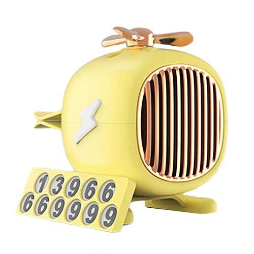 LJSHU Aria condizionata Auto Presa d'Aria Aromaterapia, Deodorante Diffusore ABS Elicottero Olio Essenziale Tipo Solido Deodorante Riutilizzabile Decorazione Interna,Giallo