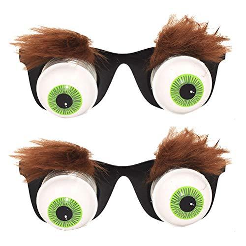 Amosfun 2 Stücke Lustige Augen Brille Augapfel