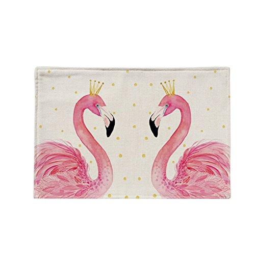 Display08 Flamingo Motif de cuisine résistant à la chaleur Pad Bol Pot de table Dessous de Verre, Lin, 6#, 17.32\\