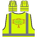 Hola Preciosa Chaqueta de seguridad amarillo personalizado de alta visibilidad j962v