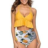IFOUNDYOU Bikini Tankini 50Er Damen Retro Vintage Bikini Sets High Waist Bademode Badeanzug Neckholder Swimsuit