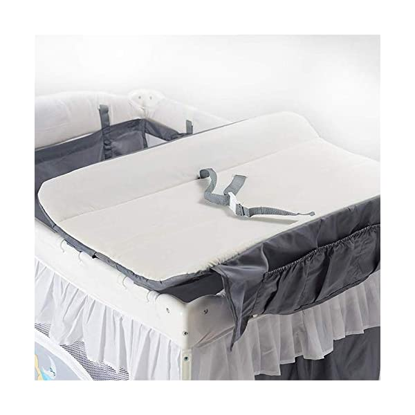 ZXCVB Multifunctional Crib Folding Crib Portable Baby Travel Bed for 0-3 Years Old Baby Multifunctional Folding Bedwith Travel Child Game Beds ZXCVB ◆Material: Made of oxford fabric, waterproof and sturdy, the bottom support is made of aviation steel tube, which is more stable and safe. The upper layer can bear 15kg and the lower layer bears 50kg. ◆Size:125*65*77cm ◆Creative Design:Put the bed on the bed of the room, so that the baby feels always accompanied by Mommy, and it feels like sleeping in the mother's womb, sleep better. The lower layer adopts the aviation cotton technology, which is comfortable and soft, protects the baby's spine health, and allows the baby to sleep peacefully. The gauze design can observe the baby's every move in 360°, ensuring that the air circulation can also protect the baby from mosquitoes. 6