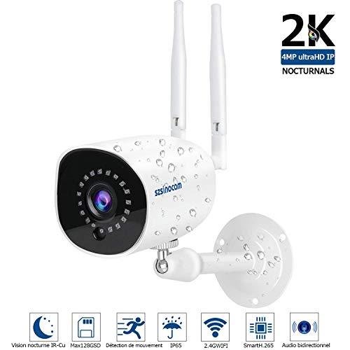 Caméra IP sans Fil 1536P,HD Caméra Surveillance WiFi Extérieur sans Fil ,Caméra IP...