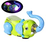 #6: RIANZ Elephant Rolling 360 / Tipping Bucket Flash Projector Starring Night Light with Music Luminous Toys for Children