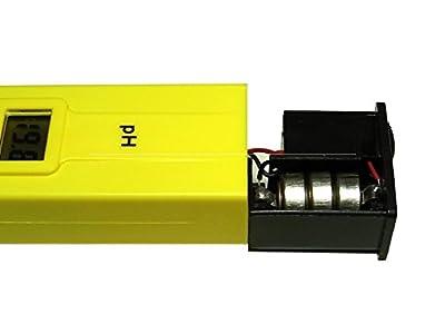 Digital pH Meter, Cherbell Digital pH Wert Meter Messgerät pH Tester Meter Pool Prüfer 0-14 für Aquarium Pool Schwimmbad, Pool, Landwirtschaft Aquarium (Gelb)
