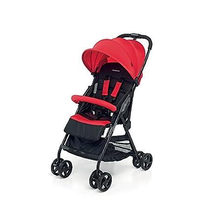 Foppapedretti Piuleggero - Silla de paseo super ligera, compacta y funcional, color rojo