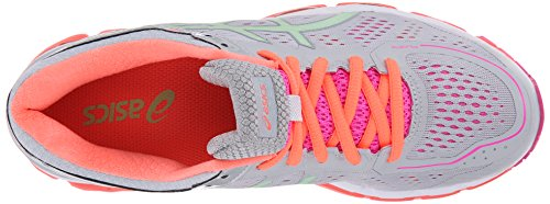 Asics Gel-Kayano 22 Synthétique Chaussure de Course Silver Grey-Pistachio-Fiery Coral